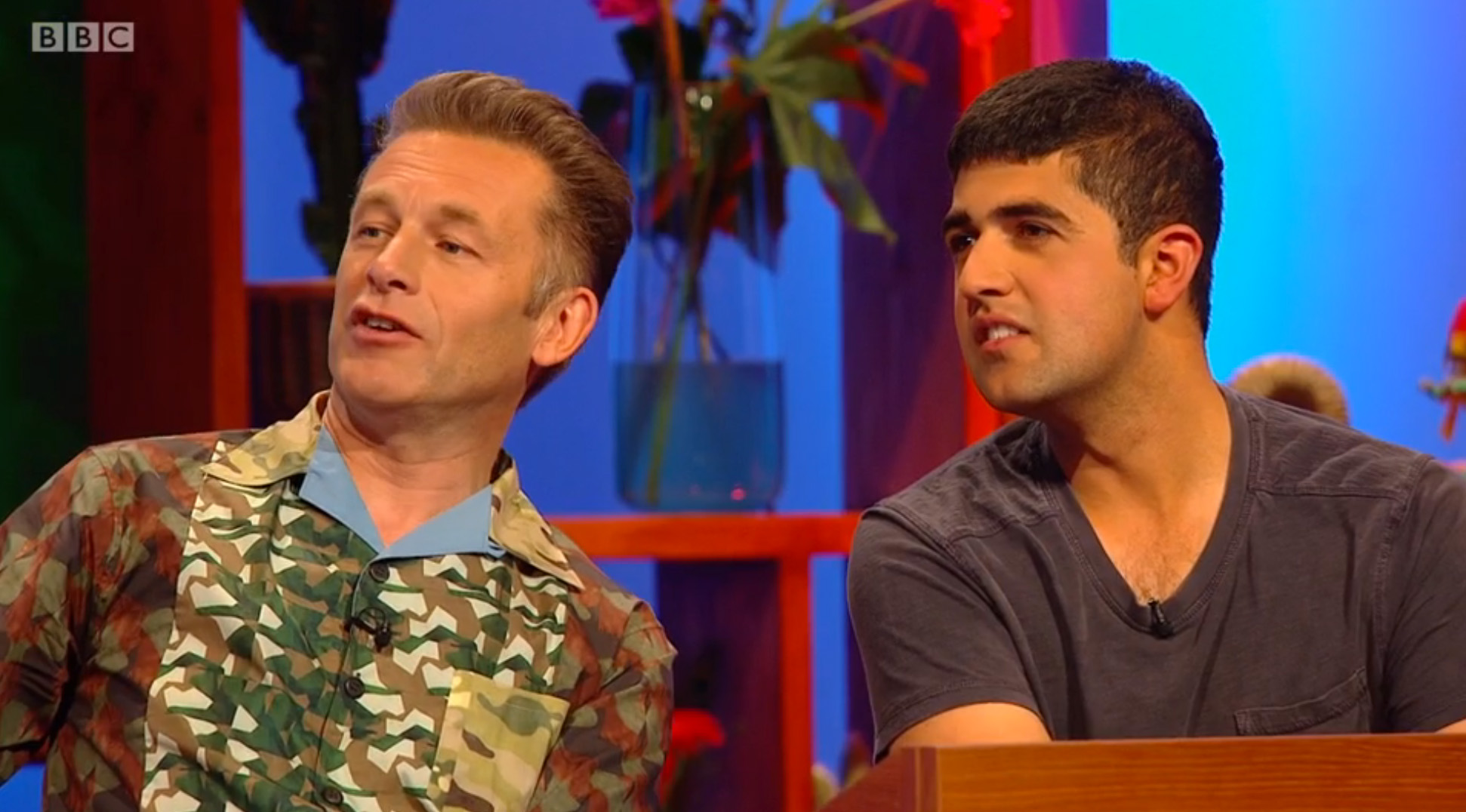 Ajay Tegala and Chris Packham BBC Curious Creatures Wildlife TV Presenter Voiceover artist