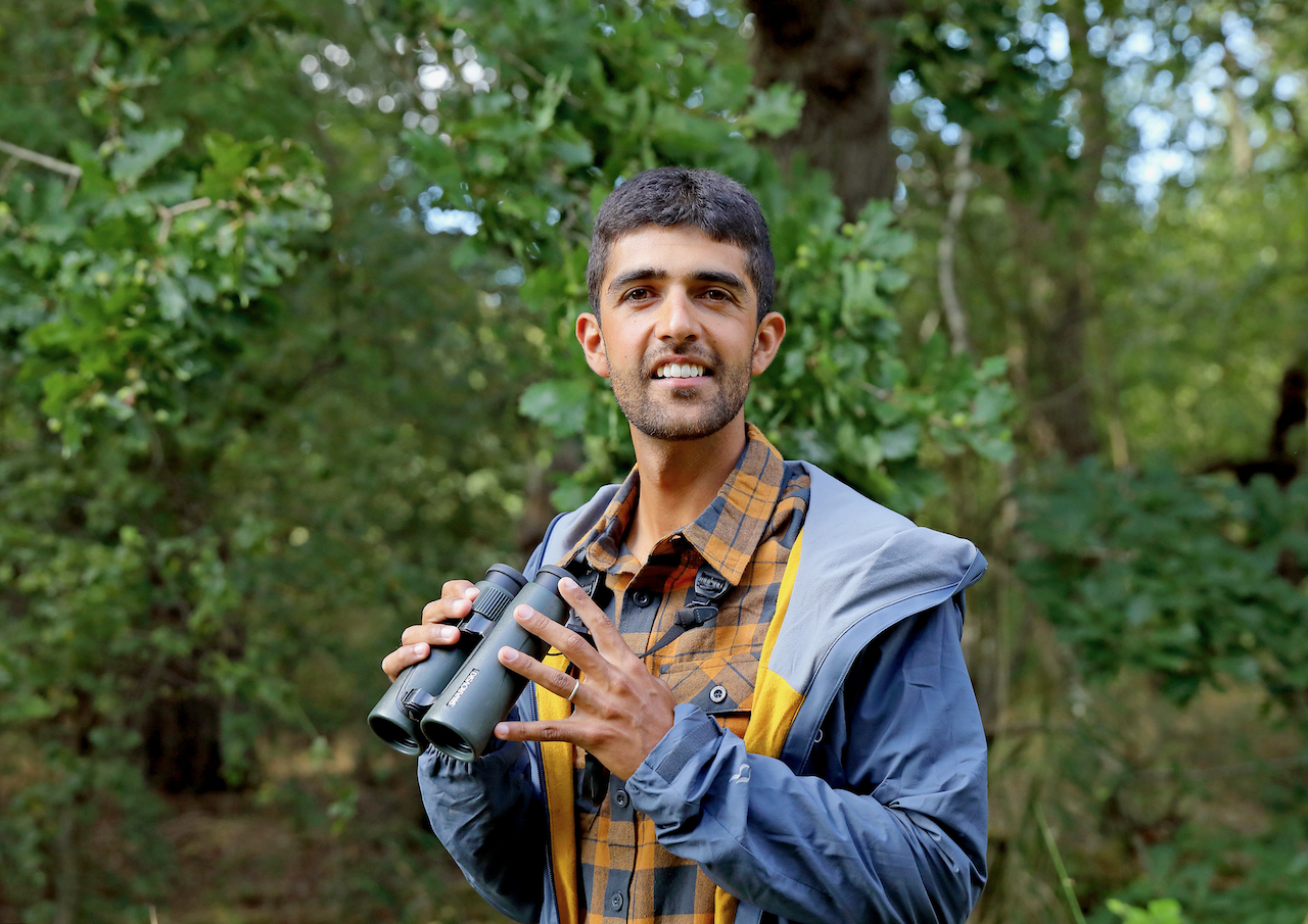 Ajay Tegala binoculars nature presenter