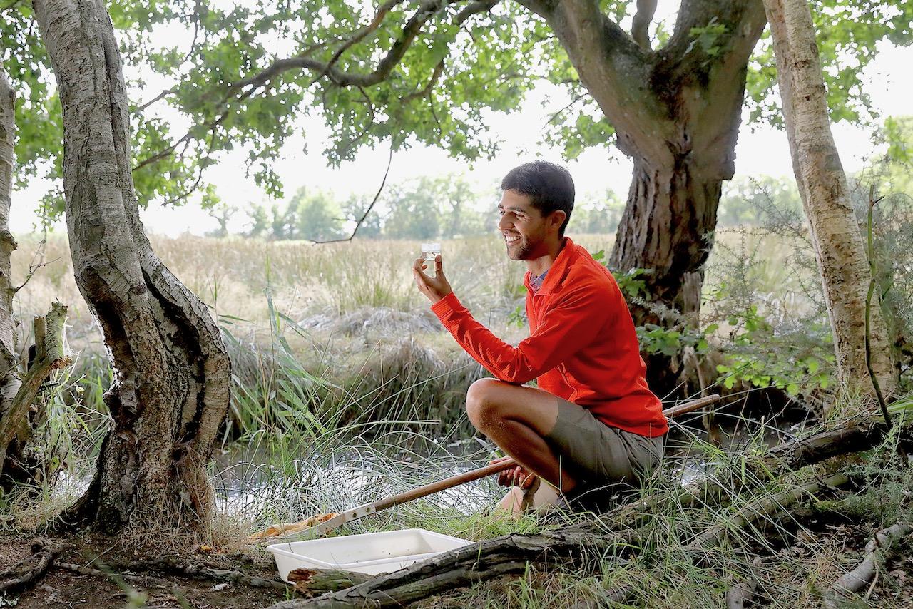 Ajay Tegala naturalist ranger wildlife TV presenter pond dipping